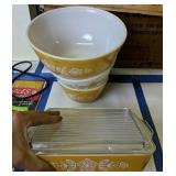 Pyrex Mixing Bowls, Covered Casserole
