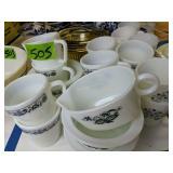 Amber Mixing Bowls, Pyrex Mugs, Bowls