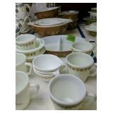 Collection Of Brown Pyrex Cinderella Mixing Bowls,