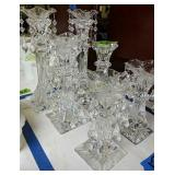 Three Pairs Of Waterford Crystal Candle Holders