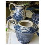Modern Decorative Ironstone Style Teapot, Wash