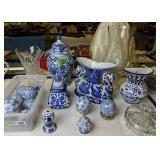Blue And White Decorative Porcelain Ginger Jar,
