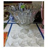 Heisey Punchbowl With Cups