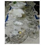 Silvercrest Basket, Pyrex Mixing Bowl, Silver