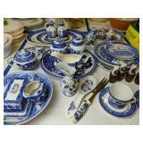 Blue And White Platters, Vinegar Oil, Miniature