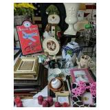 Picture Frames, Snowman Figurine, Collector