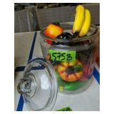 Style Eyes Baum Bros Glass Fruit, Covered Jar Etc