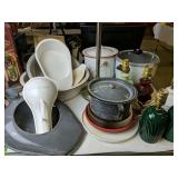 Agate Chamber Pots, Table Lamps Etc