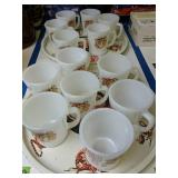Esso Tiger Trays And  Fire-king Mugs