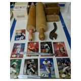 Football Cards, Rolling Pins, Butter Print,