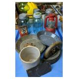 Ball Mason Jars, Green Glass Oil Lamp, Pie