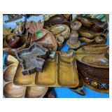 Wood Pineapple Shape Bowls, Serving Bowls, Wood