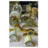 Onix Horsehead Bookends, Clocks