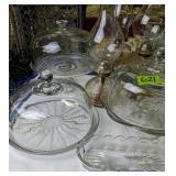 Cake Plates, Oil Lamps, Table Lamp, Teapot Etc