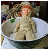 Green Agate Washbowl, Rope, Doll