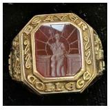 10k Gold 1957 Beaver College Class Ring 6.6 Dwt