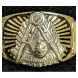 10k Gold Masonic Ring 6.1 Dwt