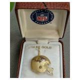 14k Gold Baltimore Orioles Football Helmet