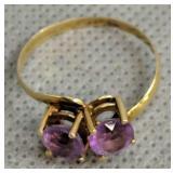 18k Gold Amethyst Ring 1 Dwt