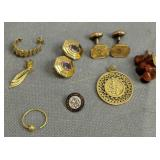 Possible Gold, Gold-filled Jewelry. Some Pieces