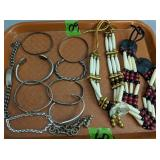 Tray Of Native American Indian Jewelry.