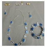 Swarovski Crystal Necklace, Bracelet Earrings