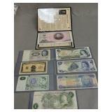 Foreign money. North Korea, Canada, England etc