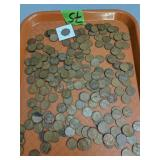 Collection of s wheat pennies