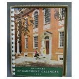 1955 Delaware Engagement Calendar New Old Stock