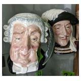 2 Royal Doulton Toby Mugs. The Lawyer, Aramis