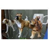 Porcelain Dog Figurines, It