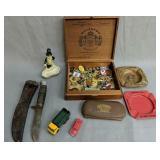 Western Boy Scout Knife, Cigar Box, Cast Iron Mr