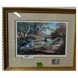 Ken Zylla Signed Duck Stamp Print Nary A Care