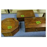 3 Inlaid Wood Boxes