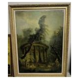 """49x66"""" 19th Century Oil Painting On Canvas"""