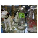 Clover Dairy Milk Bottle, Sussex Creamery Milk