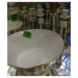 Lenox Lido Bowl, Candle Holders, Peppermill