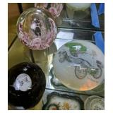 Paper Weights. Dion Bouton 1903 Car, Sulfide Dog,