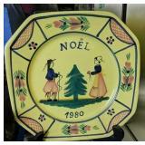 Quimper Noel 1980 Plate