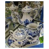 Delft Blue Teapot, Creamer Sugar