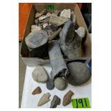 Fossils, Petrified Wood, Arrowheads Etc