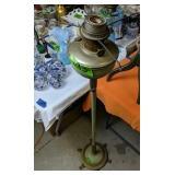 Electrified Oil Floor Lamp. Aladdin Nu Type M