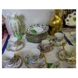 Plates, Teacup Saucers, Vase Etc