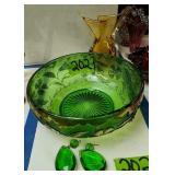 Delaware Glass Bowl, Art Glass Vase