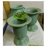 3 Weller Pottery Vases