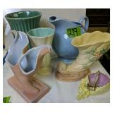 Lu-ray Ball Pitcher, Vases, Hull Pottery