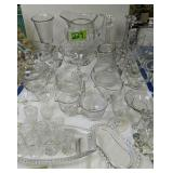 Crystal And Glassware. Candle Holders, Cake