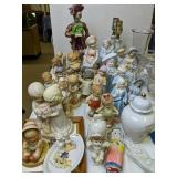 Bisque Figurines, Table Lamps, Precious Moments