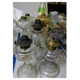 Oil Lamps. Amethyst, Amber Etc