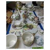 Hand Painted Dishes, Vases, Nippon Tea Set,